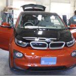 カーフィルム、BMW i3がコーティングとのセット施工で入庫していました。