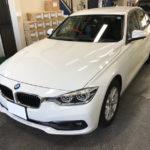 カーフィルム、BMW 320dセダン リア全面(5%)紫外線カットフィルム施工で入庫。