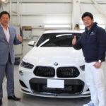 BMW X2にSOTTハイグロスカーボンでラッピング 依頼は山﨑さん