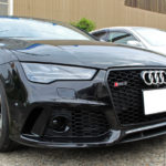 Audi RS7、フロントグリル周りとドアトリムにラッピングフィルムを施工しました!