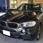 カーフィルム、BMW   X5 リア全面(5%)UVカットフィルム施工で入庫。