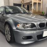 カーフィルム、BMW   M3 リア全面フィルム剥がし作業で入庫。