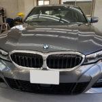 カーフィルム、BMW   320i ガラス全面遮熱フィルム施工で入庫。