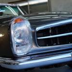 ベンツ  230SL 1966年製のクラシックカー ハードトップにラッピングフィルムを施工しました!