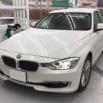 カーフィルム、BMW   3シリーズ リア全面(15%)遮熱フィルム施工で入庫。