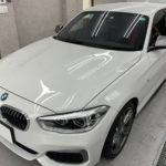 カーフィルム、BMW   1シリーズ ガラス全面遮熱フィルム施工で入庫。