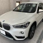 カーフィルム、BMW   X1 リア全面(5%)遮熱フィルム施工で入庫。