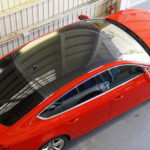 リアルカーボンPPF「DYNOブラックカーボングロス」、Audi A5のルーフに施工しました!