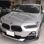 カーフィルム、BMW   X2 リア全面(15%)遮熱フィルム施工で入庫。