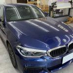 カーフィルム、BMW   523d ガラス全面遮熱フィルム施工で入庫。