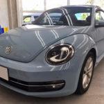 カーフィルム、VW ビートル リア全面(10%)紫外線カットフィルム施工で入庫。