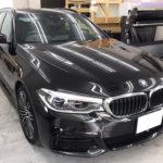 カーフィルム、BMW   523i リア全面(5%)遮熱フィルム施工で入庫。