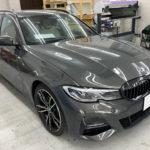 カーフィルム、BMW   3シリーズツーリング リア全面(5%)遮熱フィルム施工で入庫。