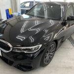 カーフィルム、BMW   320d リア全面(10%)遮熱フィルム施工で入庫。