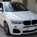 BMW   X4 ホワイトルーフを「DYNOblackカーボングロス」でブラックカーボン化!